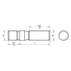 ГОСТ 22033- шпильки с ввинчиваемым концом